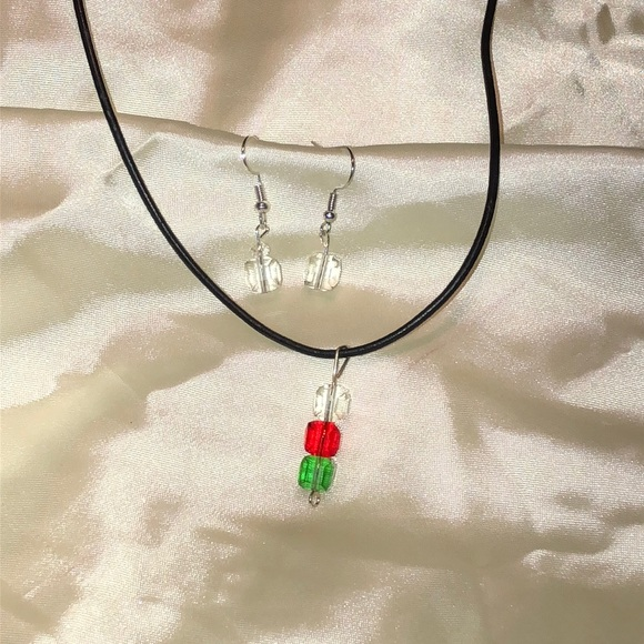B2B Jewelry - Gorgeous Christmas crystal necklace & earrings NEW